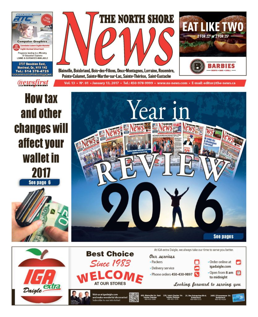 Front page image of the North Shore News Volume 13-1