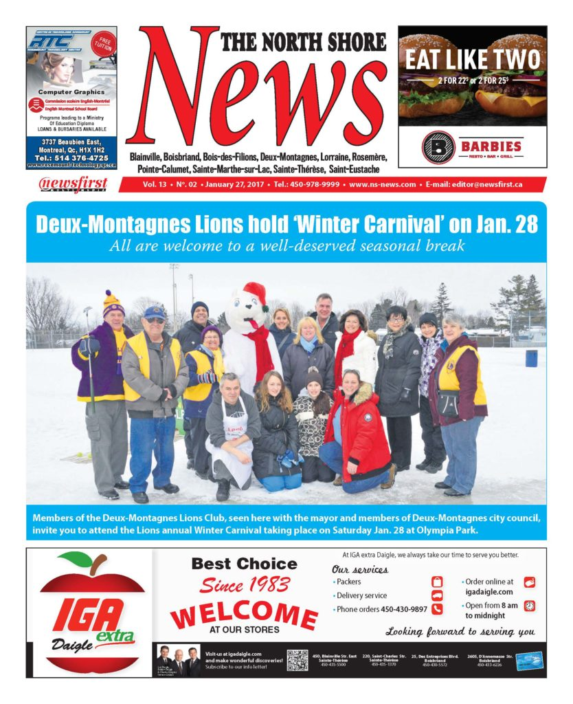 Front page image of the North Shore News Volume 13-2