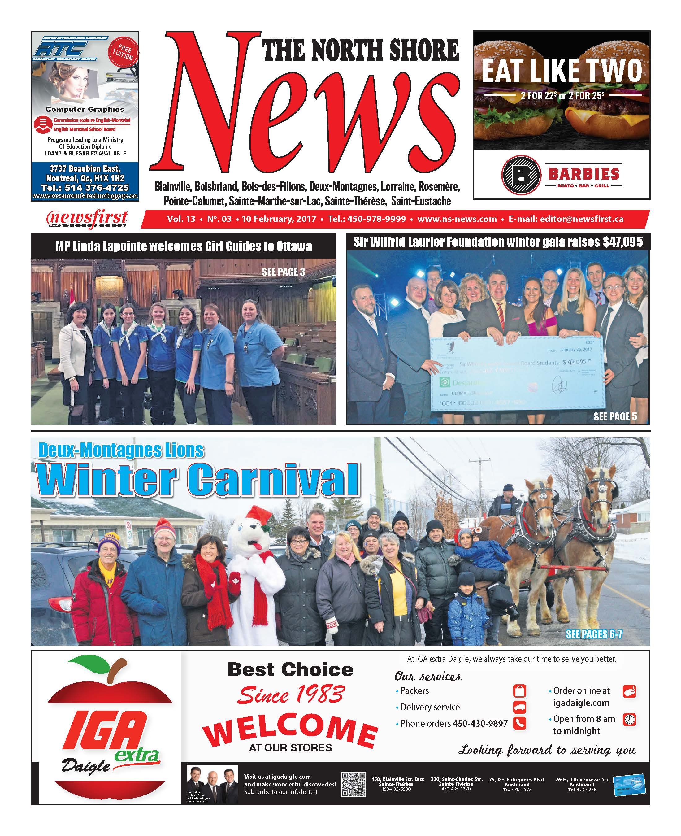 Front page image of the North Shore News Volume 13-3