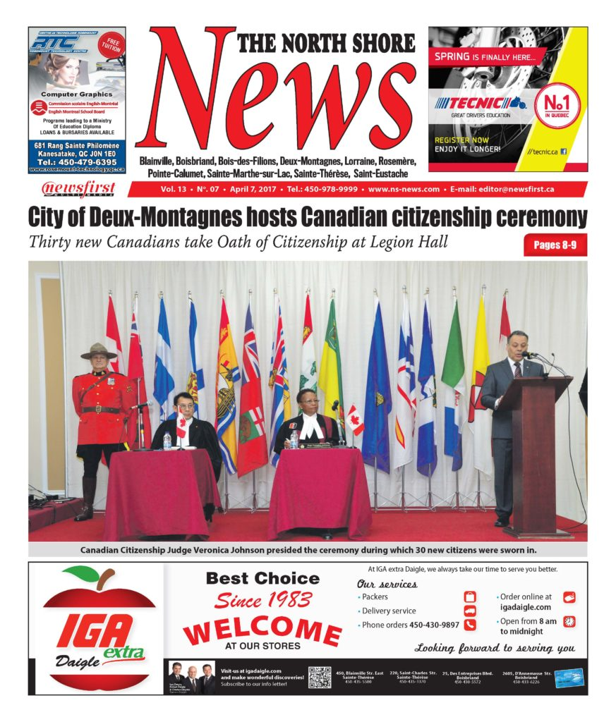 Front page image of the North Shore News Volume 13-7