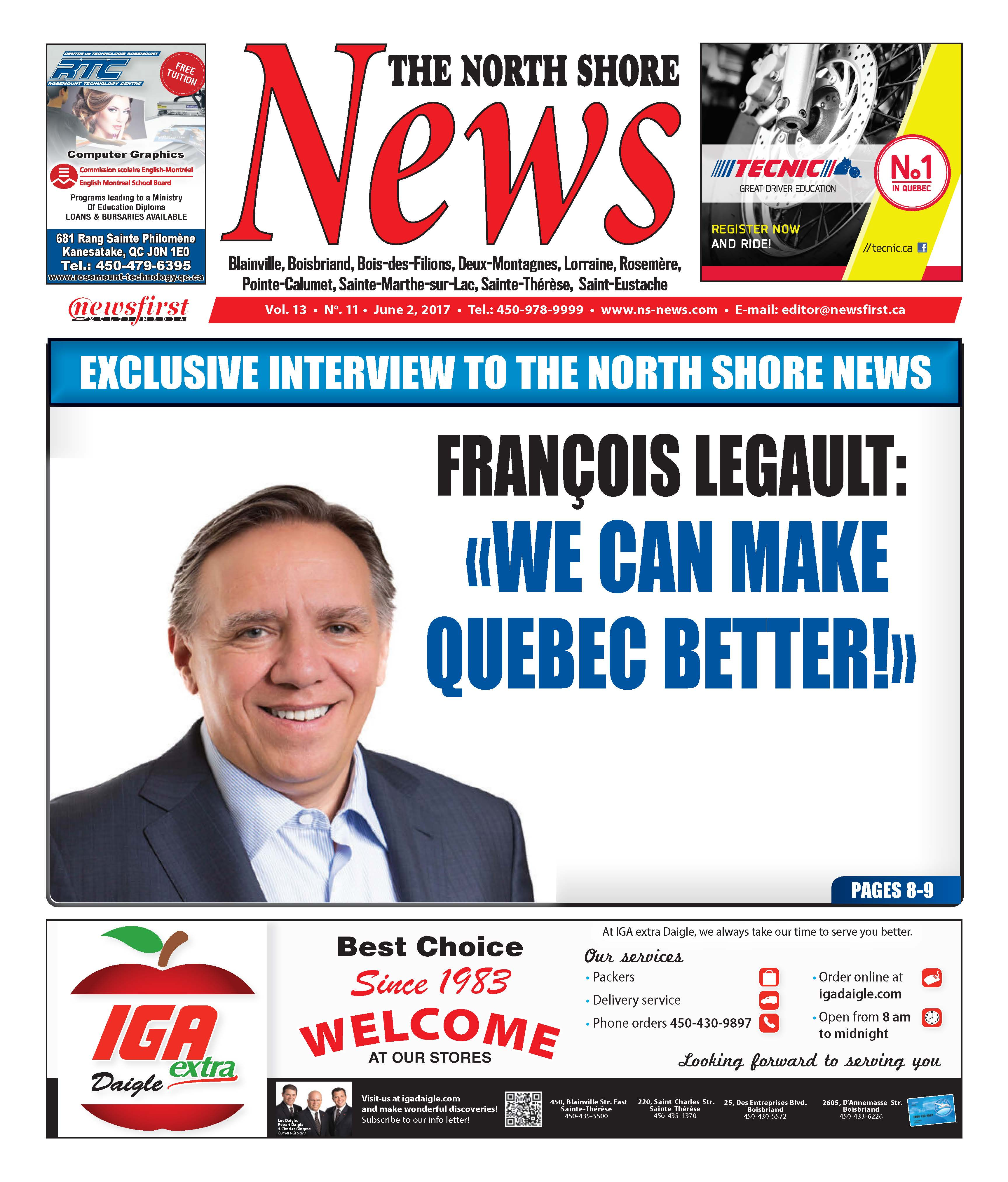 Front page image of the North Shore News Volume 13-11