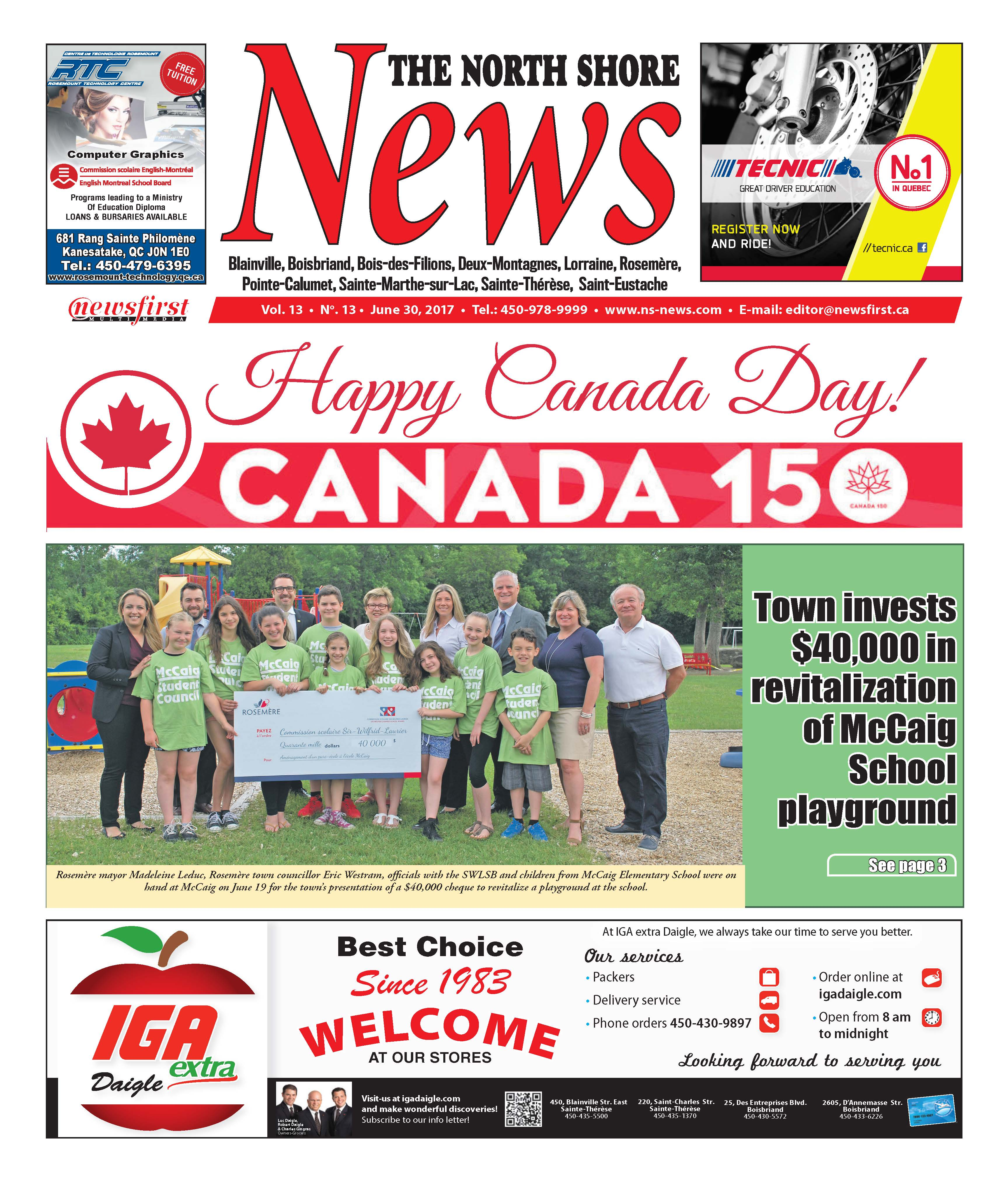 Front page image of the North Shore News Volume 13-13