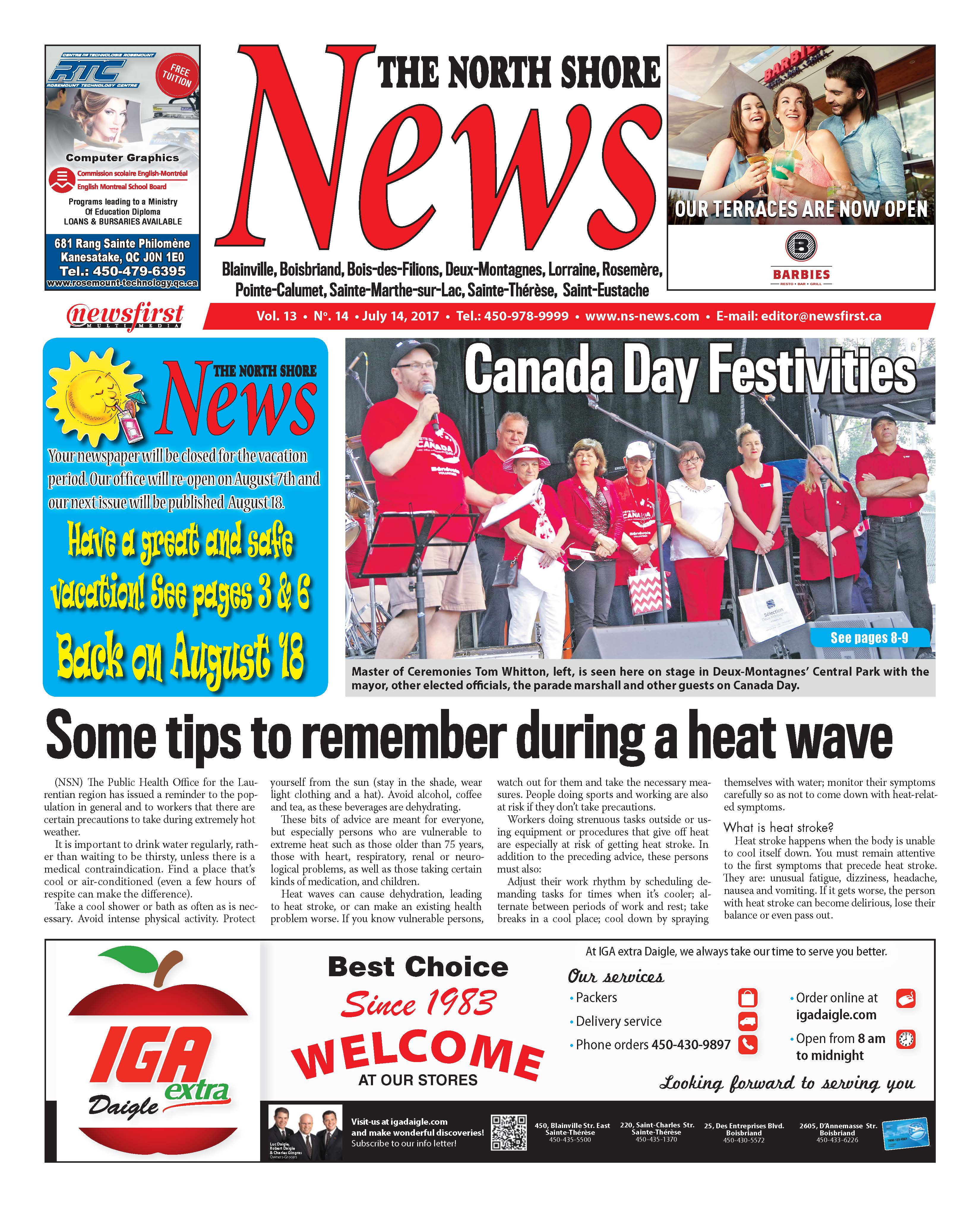 Front page image of the North Shore News Volume 13-14