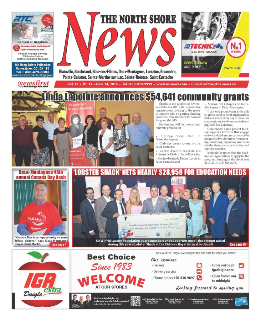 Front page image of the North Shore News Volume 12-13