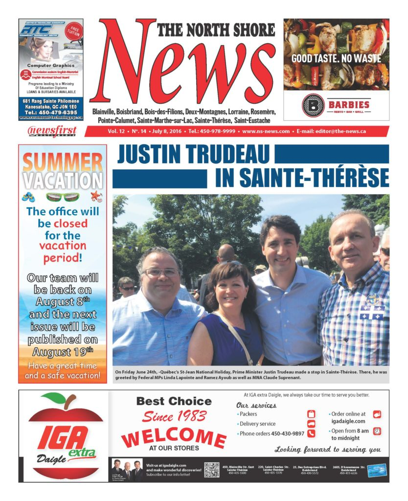 Front page image of the North Shore News Volume 12-14