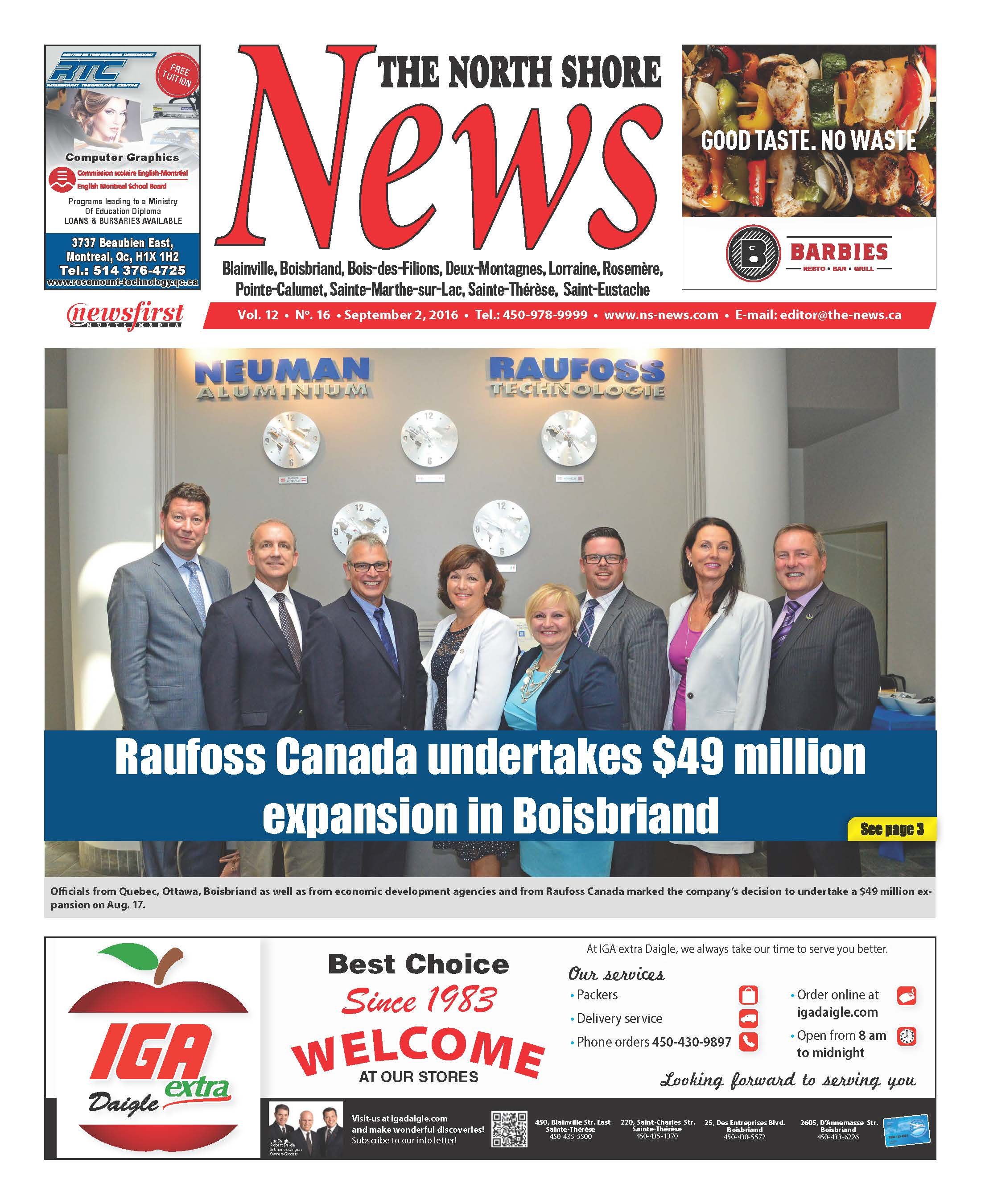 Front page image of the North Shore News Volume 12-16