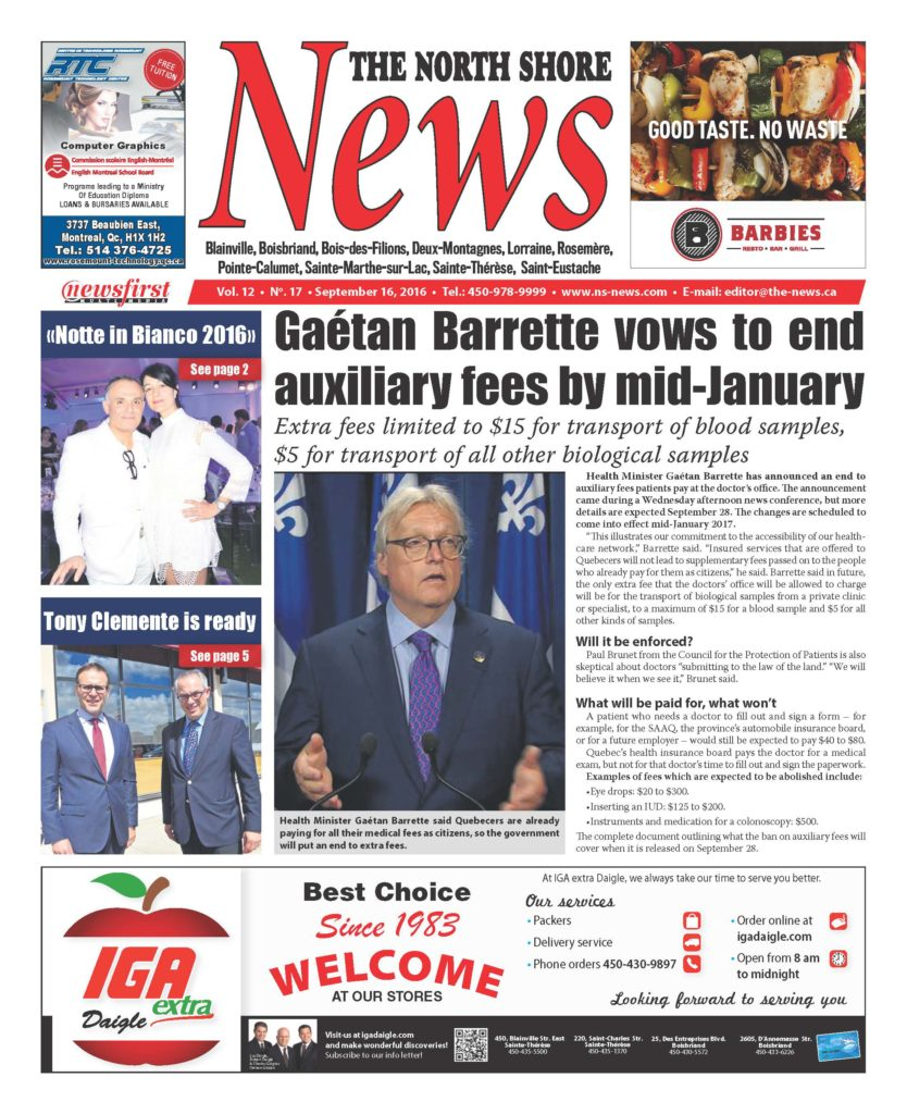 Front page image of the North Shore News Volume 12-17