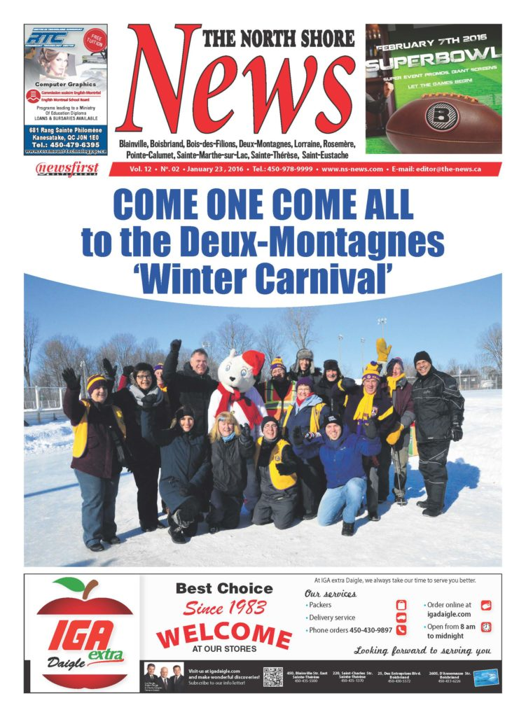 Front page image of the North Shore News Volume 12-2