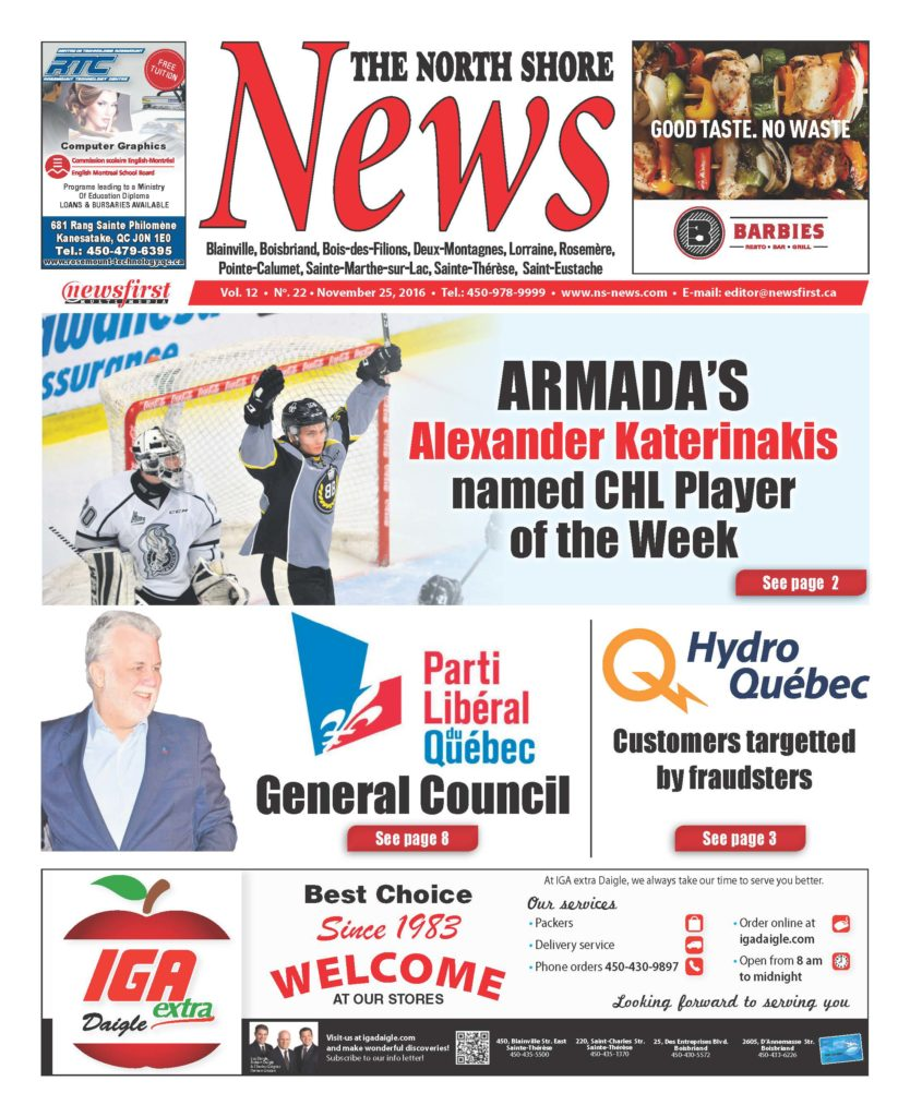 Front page image of the North Shore News Volume 12-22