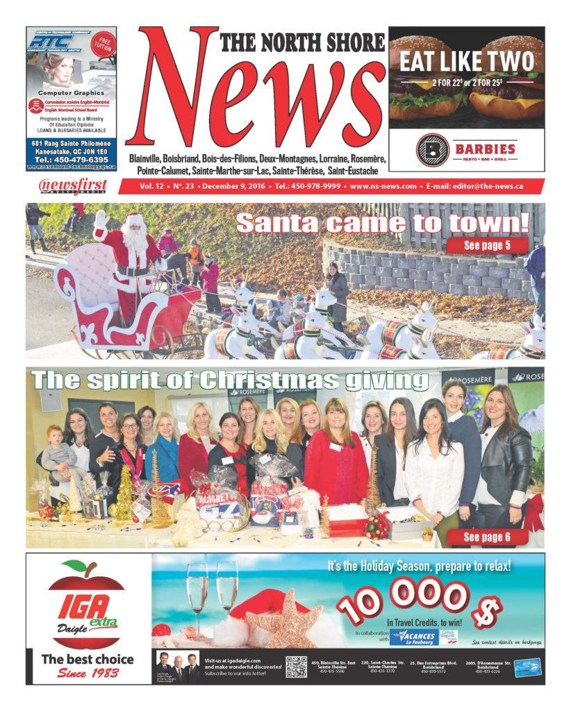 Front page image of the North Shore News Volume 12-23