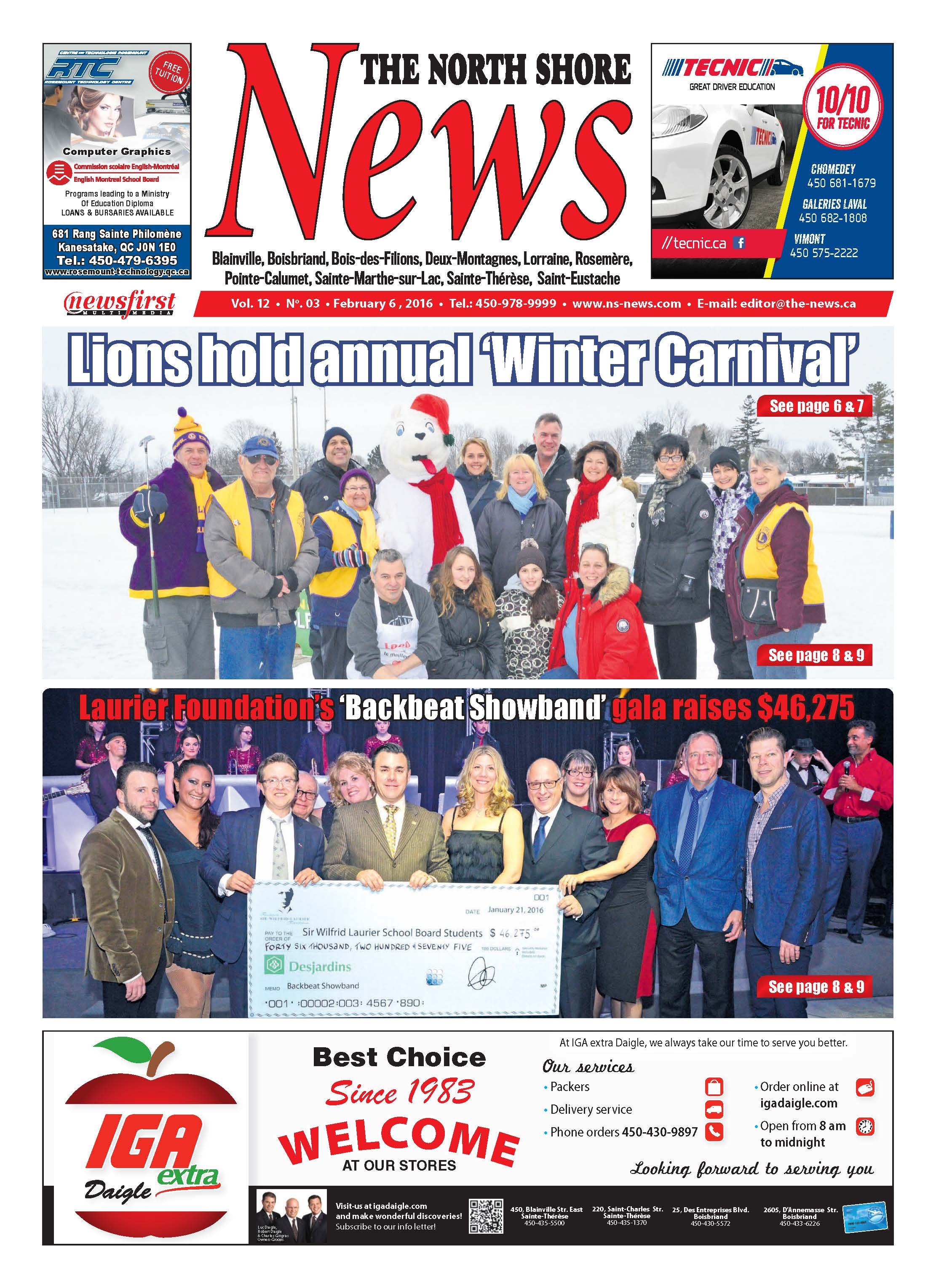 Front page image of the North Shore News Volume 12-3
