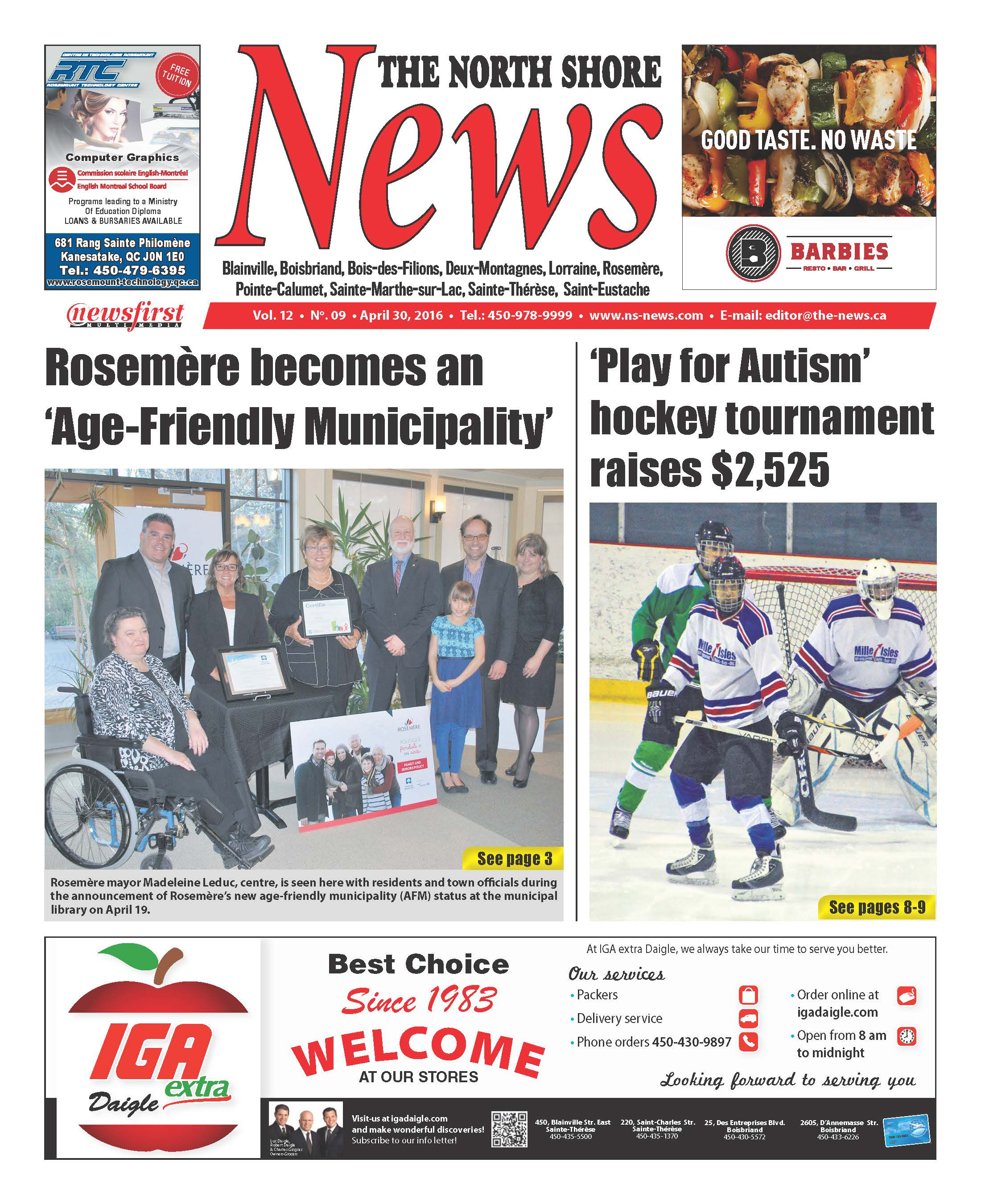 Front page image of the North Shore News Volume 12-9