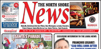 Front page image of the North Shore News