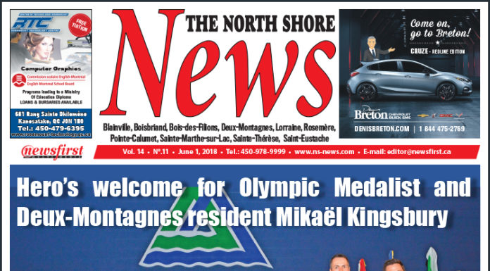 Front page image of the North Shore News 14-11