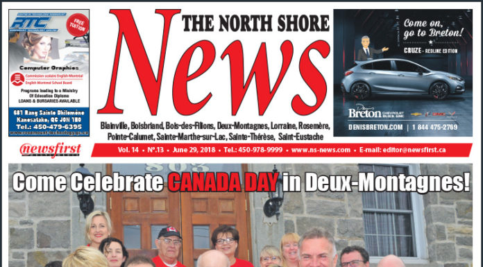 Front page image of the North Shore News 14-13