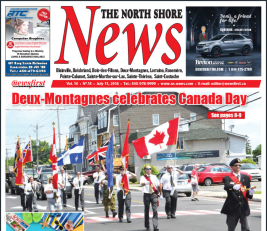 Front page image of the North Shore News 14-14