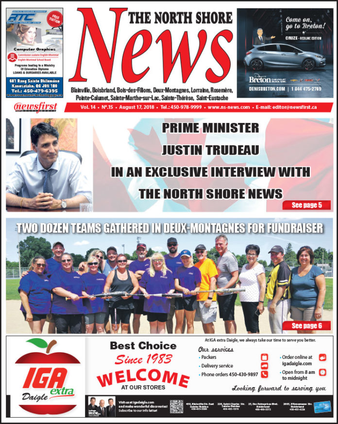 Front page image of the North Shore News 14-15