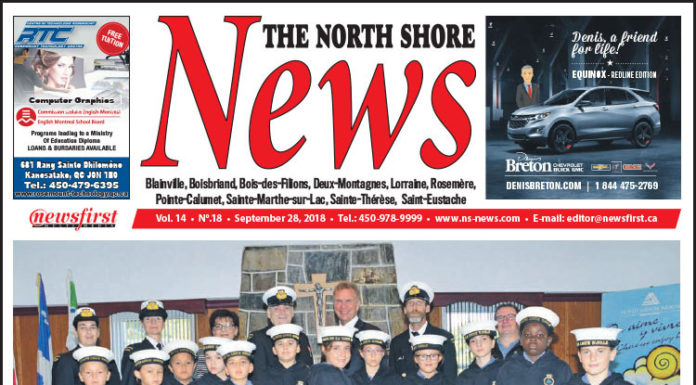Front page image of the North Shore News 14-18.