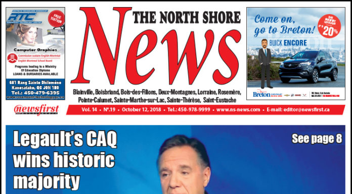 Front page image of the North Shore News 14-19.