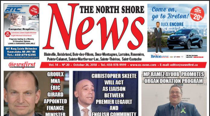 Front page image of the North Shore News 14-20.