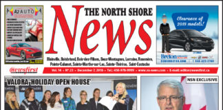 Front page image of the North Shore News 14-23.