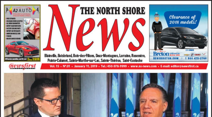 Front page image of the North Shore News 15-01.