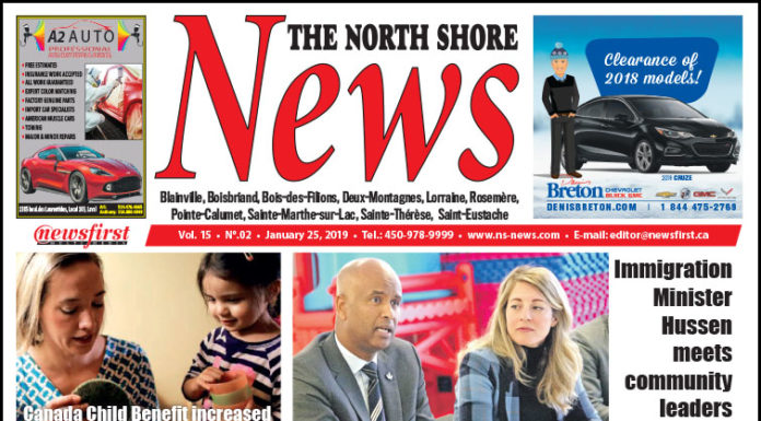 Front page image of the North Shore News 15-02