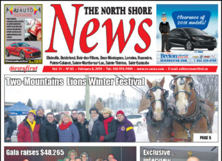 Front page image of the North Shore News 15-03.