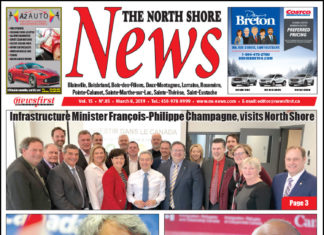 Front page image of the North Shore News 15-05.