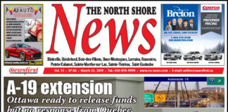 Front page image of the North Shore News 15-06.
