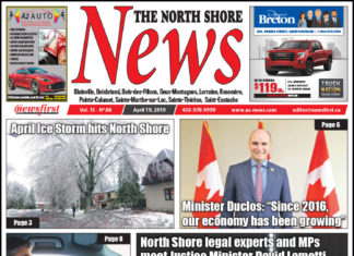 Front page image of the North Shore News 15-08.