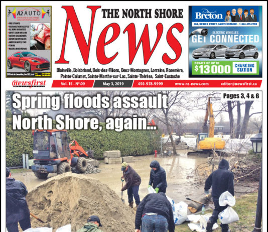 Front page image of the North Shore News 15-09.