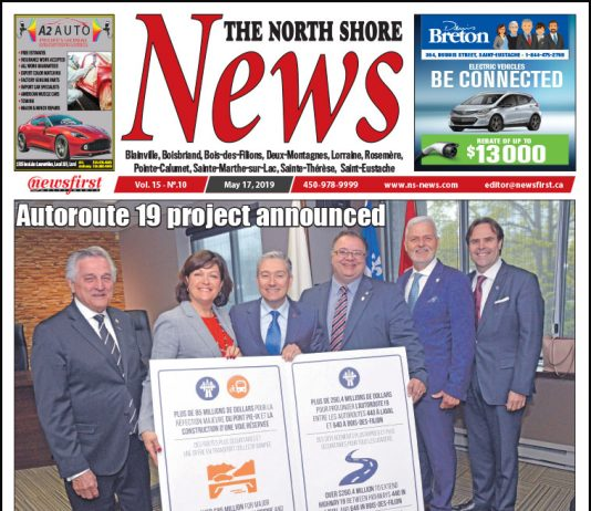 Front page image of the North Shore News 15-10.