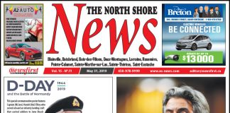 Front page image of the North Shore News 15-11.