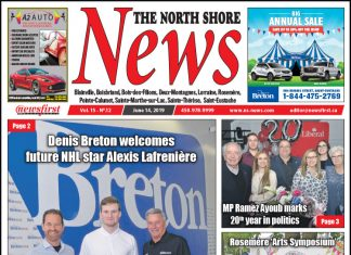 Front page image of the North Shore News 15-12.
