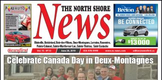Front page image of the North Shore News 15-13.