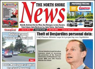 Front page image of the North Shore News 15-15.