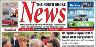 Front page image of the North Shore News 15-16.