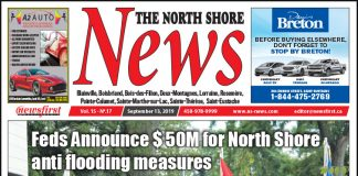 Front page image of the North Shore News 15-17.