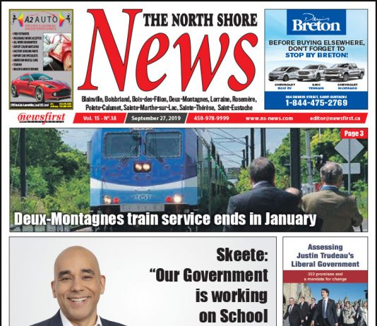 Front Page of the North Shore News 15-18.
