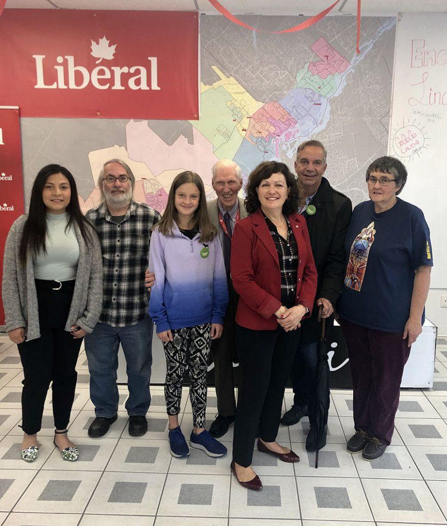 North Shore MP Linda Lapointe hard at work campaigning