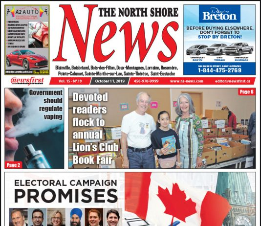 Front Page of the North Shore News 15-19.