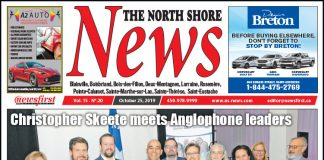 Front Page of the North Shore News 15-20.
