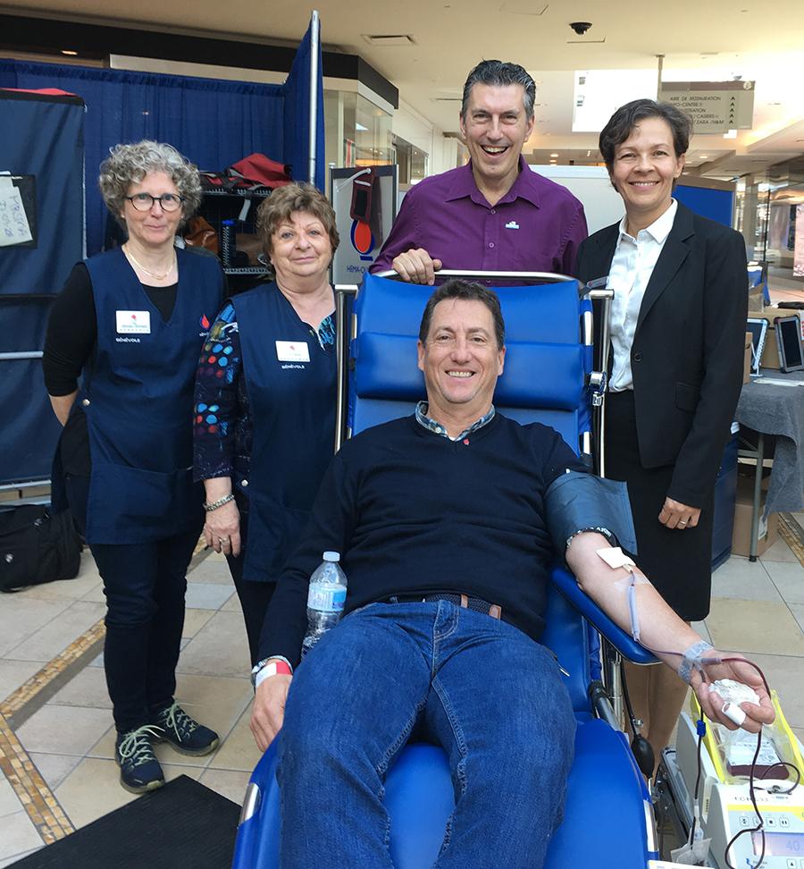 Rosemère town council blood drive