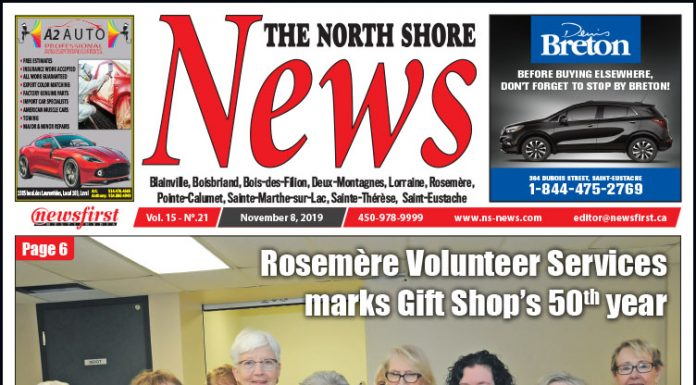 Front Page of the North Shore News 15-21