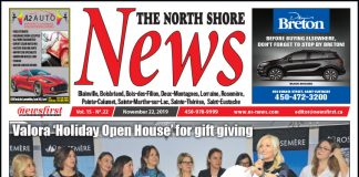 Front Page of the North Shore News 15-22