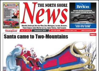 Front Page of the North Shore News 15-23