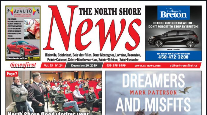 Front Page of the North Shore News 15-24
