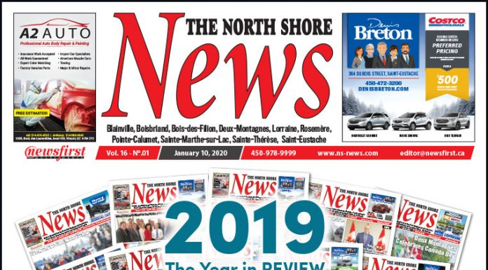 Front Page of the North Shore News 16-01