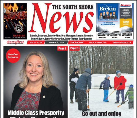 Front Page of the North Shore News 16-02